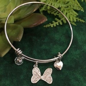 Disney Silver Plated Minnie Mouse Bow Bang…